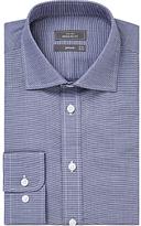 John Lewis Houndstooth Regular Fit Shirt, Navy