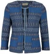 Camel Active Blue Printed Blazer