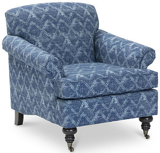 Kim Salmela Joplin Club Chair - Washed Blue