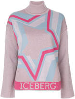 Iceberg star embroidered sweater