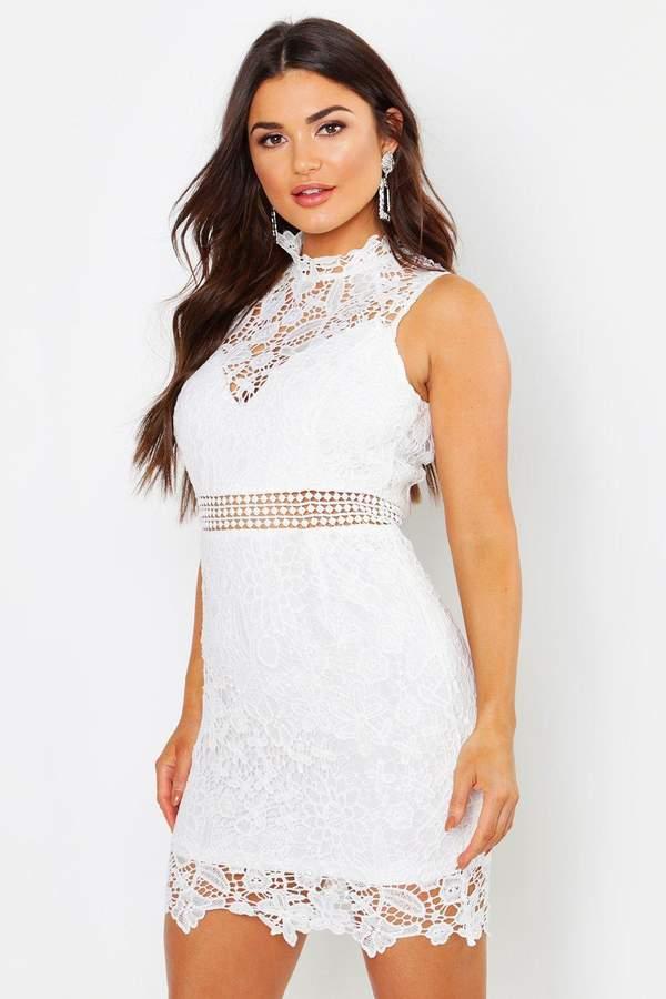 2aa47f6e34 boohoo White Bodycon Day Dresses - ShopStyle