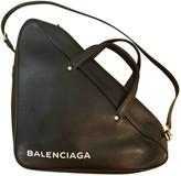 Balenciaga Triangle Black Leather Handbags