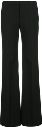Theory low-waist flared trousers