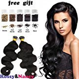 Rossy&Nancy I Tip Pre-bonded keratin Micro Ring Remy Brazilian Hair Extensions Body Wave Hair 1g/Strand 100 Strands/Pack