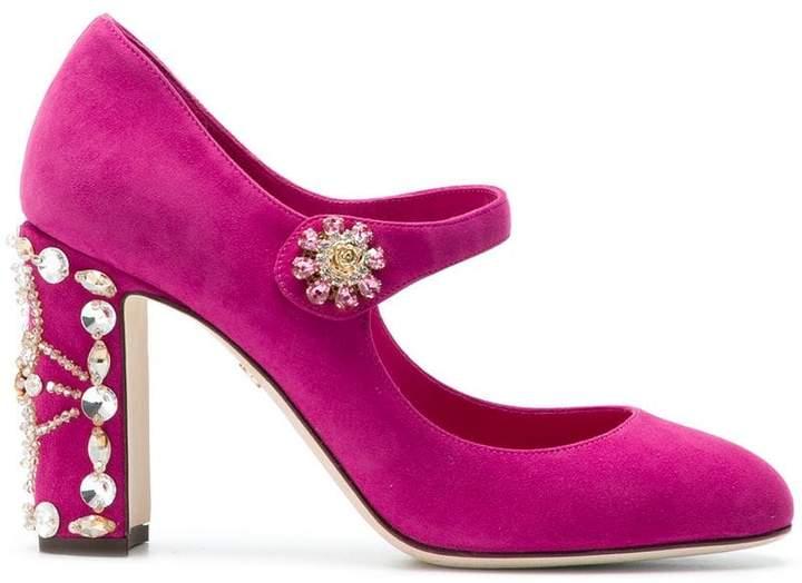 Dolce & Gabbana embellished heel pumps