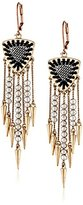 Sam Edelman Two-Tone Bead Fringe Drop Earrings