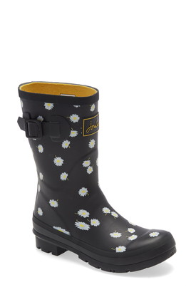 Joules Molly Floral Print Welly Waterproof Rain Boot