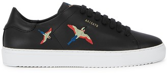 Axel Arigato Clean 90 black embroidered leather sneakers
