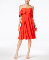 CeCe Jackie Off-The-Shoulder Ruffled A-Line Dress