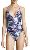 We Are Handsome One-Piece Printed Swimsuit