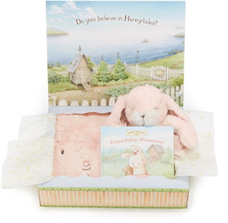 Bunnies by the Bay Blossom Tuck Me In Blanket, Stuffed Animal & Book Set