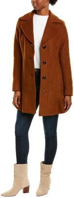 Kensie Signature Peplum Wool-Blend Coat