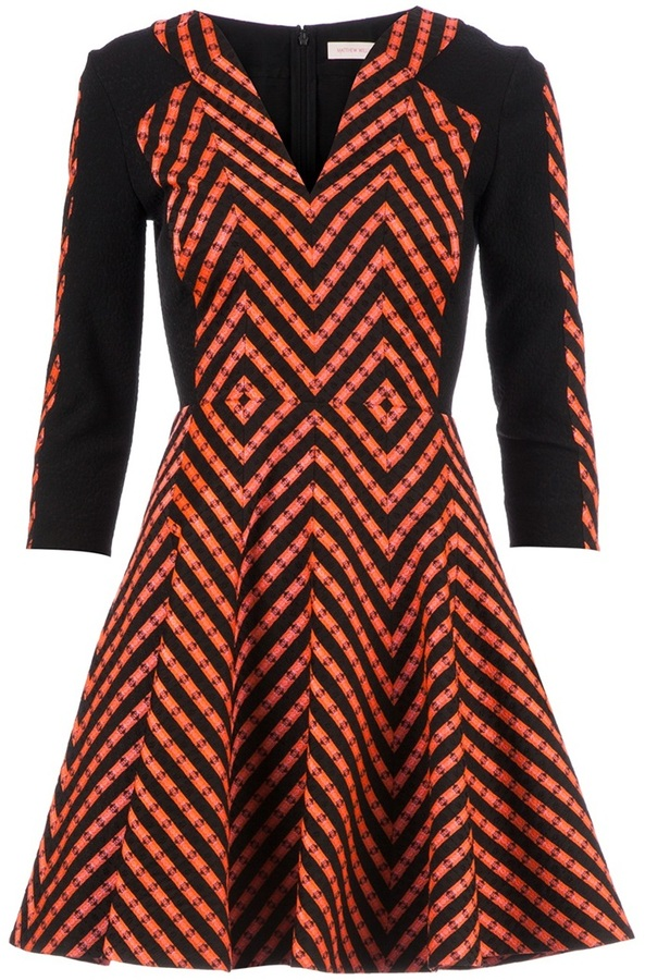 Matthew Williamson zig-zag empire line dress