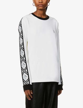 Acne Studios Elwood face-applique jersey sweatshirt
