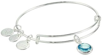 Alex and Ani Swarovski Color Code Bangle Bracelet (January/Scarlet Color/Shiny Silver) Bracelet