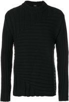 Jil Sander knitted ribbed jumper - men - Polyamide/Wool - 50