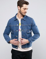Paul Smith Denim Worker Jacket in Mid Blue