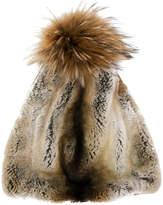 N.Peal raccoon pompom hat