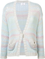 Allude front pocket cardigan - women - Cotton/Polyacrylic - S