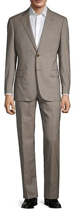 Armani Collezioni G-Line Fit Check Virgin-Wool Suit