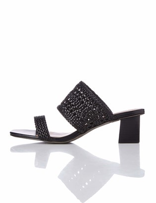 find. Two Band Woven Sandal Open Toe Black) 6 UK