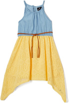 Dollhouse Light Blue & Sunshine Denim Sidetail Dress - Toddler & Girls