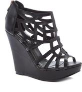 Black Mabel Wedge Sandal