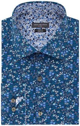 Van Heusen Men's Flex Collar Slim Fit Stretch Long Sleeve Dress Shirt