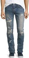 Hudson Vaughn Skinny Ankle-Zip Destructed Jeans in Killz
