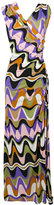 Emilio Pucci printed long zipper dress