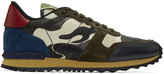 Valentino Off-White & Brown Camo Rockrunner Sneakers