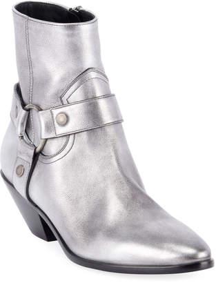 Saint Laurent West Metallic Harness Booties