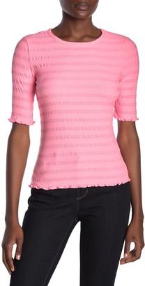 Elodie K Elbow Sleeve Ribbed Top