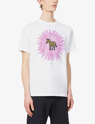 Paul Smith Flower Zebra graphic-print organic cotton-jersey T-shirt