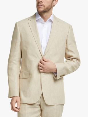 John Lewis & Partners Linen Regular Fit Suit Jacket, Stone