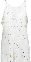 Kain Label Jane Paint-Splattered Stretch-Cotton Tank
