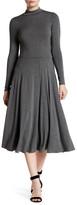 Soprano Mock Neck A-Line Midi Dress