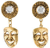 Moschino Comedy Mask Clip-On Earrings