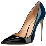 VOCOSI Women's Zej Gradient Pointed Toe Stiletto Patent Leather Dress Shoes Pumps 9.5 US