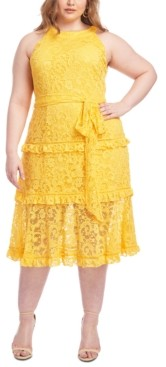 Rachel Roy Trendy Plus Size Lace Midi Dress