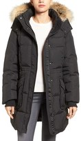 Pajar Bryce Three Quarter Quilted Down Coat with Detachable Genuine Fur Hood