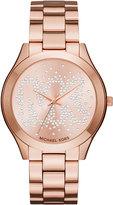 MICHAEL Michael Kors 42mm Crystal Bracelet Watch, Rose Golden