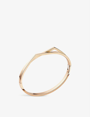 Repossi Antifer 18ct pink-gold double band bracelet