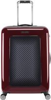 Ted Baker Burgundy Graphite Suitcase - Medium