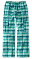 L.L. Bean L.L.Bean Girls' Flannel Cargo Pants