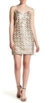 Dress the Population Geometric Metallic Sequin Print Adriana Dress
