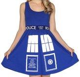 Doctor Who Tardis Juniors A-Line Dress - 2X-Large