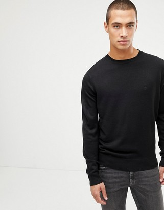 French Connection Plain Logo Crew Neck Knit Sweater