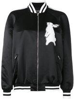 Markus Lupfer sequin rabbit bomber jacket