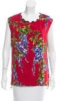 Dolce & Gabbana Wisteria Print Sleeveless Top
